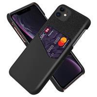 KSQ iPhone 11 Cover met Kaarthouder - Zwart