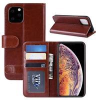iPhone 11 Pro Max Portemonnee Hoesje met Magneetsluiting - Bruin