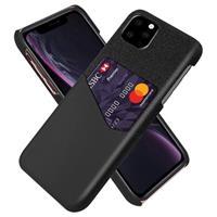 KSQ iPhone 11 Pro Max Hoesje Met Kaarthouder - Zwart