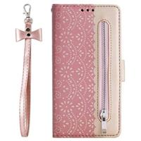 Lace Pattern iPhone 11 Pro Wallet Case - Rose Gold