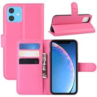 iPhone 11 Portemonnee Hoesje met Magneetsluiting - Hot Pink