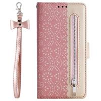 Lace Pattern iPhone 11 Pro Max Portemonnee-hoesje - Rose Gold