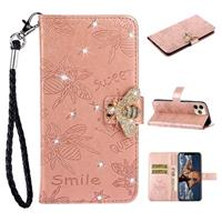 Sparkly Bee Series iPhone 11 Pro Wallet Case - Rose Gold