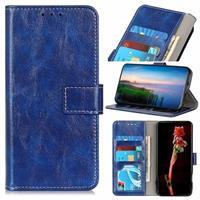 iPhone 12 Pro Max Portemonnee Hoesje met Standaard Functie - Blauw