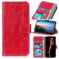 iPhone 12 Pro Max Portemonnee Hoesje met Standaard Functie - Rood
