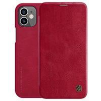 Nillkin Qin iPhone 12 mini Flip Hoesje - Rood