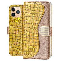 Croco Bling iPhone 11 Pro Max Wallet Case - Goud