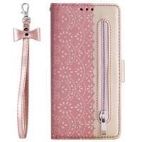 Lace Pattern iPhone 11 Portemonnee Hoesje - Rose Gold