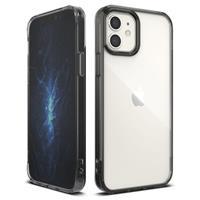 Ringke Fusion iPhone 12 Mini Hybrid Case - Zwart / Doorzichtig