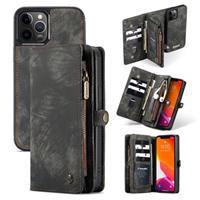 Caseme 2-in-1 Multifunctionele iPhone 12/12 Pro Portemonnee Hoesje - Zwart
