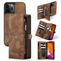 Caseme 2-in-1 Multifunctionele iPhone 12/12 Pro Portemonnee Hoesje - Bruin