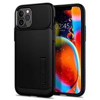 Spigen Slim iPhone 12/12 Pro Cover - Zwart