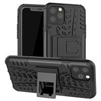 Anti-Slip iPhone 11 Pro Hybrid Case met Standaard - Zwart