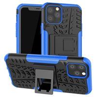 Anti-Slip iPhone 11 Pro Hybrid Case met Standaard - Blauw / Zwart