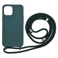 Necklace Series iPhone 12 Mini TPU Case - Donkergroen