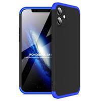 GKK Onzichtbare iPhone 12 Mini Cover - Blauw / Zwart