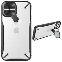Nillkin Cyclops iPhone 12/12 Pro Hybrid Hoesje - Zwart / Doorzichtig