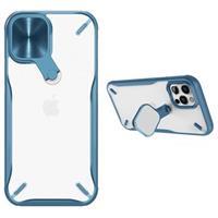 Nillkin Cyclops iPhone 12/12 Pro Hybrid Hoesje - Blauw / Doorzichtig