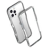 Luphie iPhone 12/12 Pro Metaal Bumper - Zilver