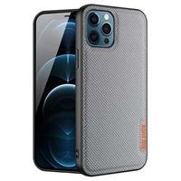 Dux Ducis Fino Series iPhone 12/12 Pro Hybrid Hoesje - Grijs