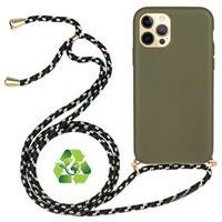 iPhone 12 Pro Max Duurzaame Hoesje met Riem - Groen