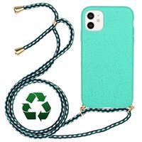 iPhone 11 Duurzaame Case met Riem - Cyan