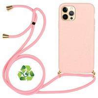 iPhone 12 Pro Max Duurzaame Hoesje met Riem - Roze