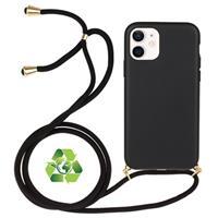 iPhone 12/12 Pro Duurzaame Hoesje met Riem - Zwart