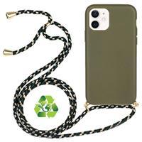 iPhone 12/12 Pro Duurzaame Hoesje met Riem - Groen