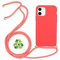 iPhone 12 Mini Duurzaame Hoesje met Riem - Rood