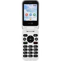 Doro 7080 Senioren clamshell telefoon SOS-knop Grafiet, Wit
