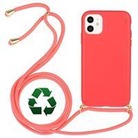 Saii Eco-Line iPhone 11 Biologisch Afbreekbaar Hoesje met Riem - Rood