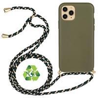 Saii Eco-Line iPhone 11 Pro Biologisch Afbreekbaar Hoesje met Riem - Groen