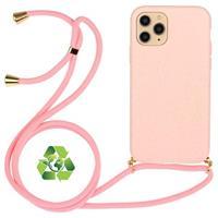 Saii Eco-Line iPhone 11 Pro Biologisch Afbreekbaar Hoesje met Riem - Roze