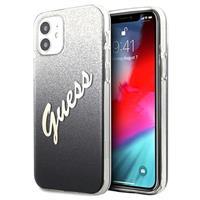 Guess Glitter Gradient Script iPhone 12 Mini Hoesje - Zwart