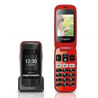 Emporia V200 Senioren clamshell telefoon Met laadstation, SOS-knop Zwart
