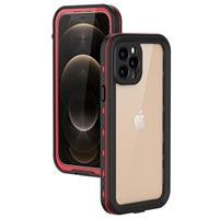 Redpepper Dot+ iPhone 12 Pro Waterdicht Hoesje - Rood / Zwart