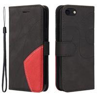 Bi-Color Series iPhone 7/8/SE (2020) Wallet Case - Zwart