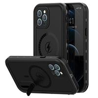 Extreme IP68 iPhone 12 Pro Magnetisch Waterdicht Hoesje - Zwart