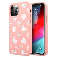 Guess Peony Collection iPhone 12/12 Pro Siliconen Hoesje - Roze