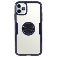 iPhone 11 Pro Max Hybrid Case met Ring Houder - Blauw