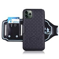 2-in-1 Onzichtbare iPhone 11 Pro Max Sportarmband - Zwart