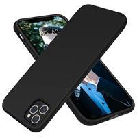 Saii Premium iPhone 12/12 Pro Liquid Siliconen Hoesje - Zwart