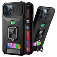Multifunctionele 4-in-1 iPhone 11 Pro Hybrid Case - Zwart