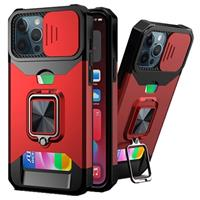 Multifunctionele 4-in-1 iPhone 11 Pro Hybrid Case - Rood