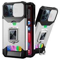 Multifunctionele 4-in-1 iPhone 11 Pro Hybrid Case - Zilver