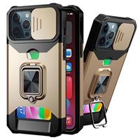 Multifunctionele 4-in-1 iPhone 12 Pro Max Hybrid Case - Gold