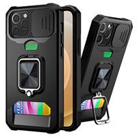 Multifunctionele 4-in-1 iPhone 12/12 Pro Hybrid Case - Zwart