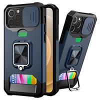 Multifunctionele 4-in-1 iPhone 12/12 Pro Hybrid Case - Navy Blauw