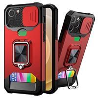 Multifunctionele 4-in-1 iPhone 12/12 Pro Hybrid Case - Rood